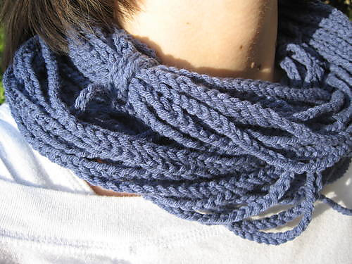 * This scarf is truly unique!  And its crochet, w00t!  :D