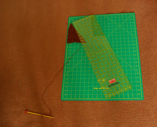 cutting mat and scarf